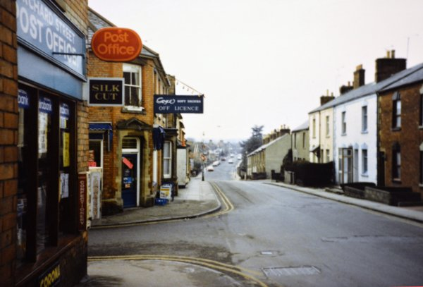the junction of orchard street and huish in 1987 montague. Black Bedroom Furniture Sets. Home Design Ideas
